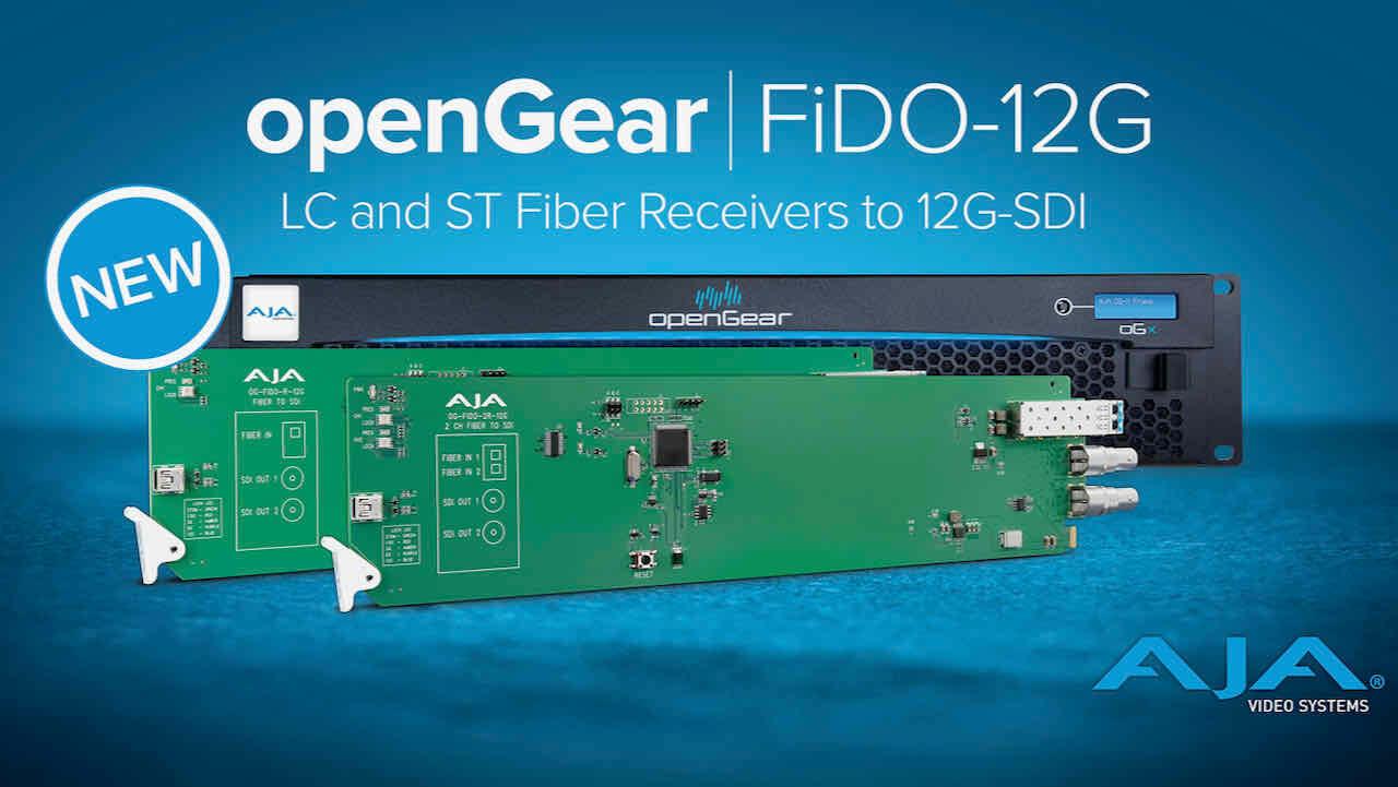 AJA adds New openGear Fiber to 12G-SDI Converters