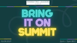 Bring it On marketing summit - 15th September