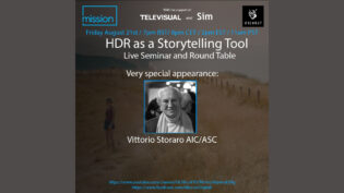HDR as a Storytelling Tool: Live Seminar & Roundtabletonight