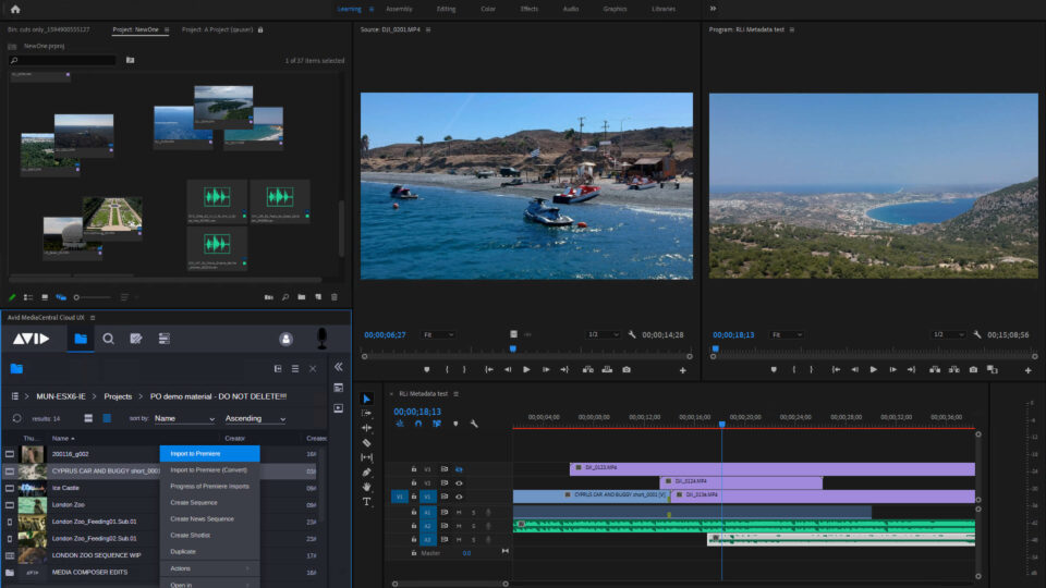 Avid update allows collaboration with Premiere Pro Editors